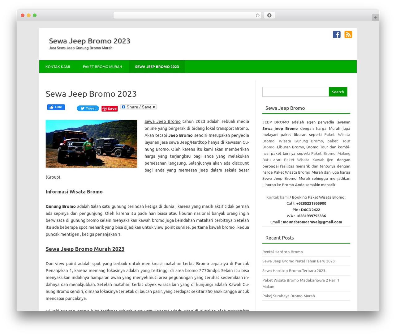 Theme WordPress Forestly By Fosforito Media Jeep Bromo Com