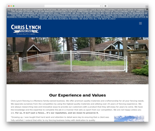 WordPress themify-ptb plugin - chrislynchfencing.com