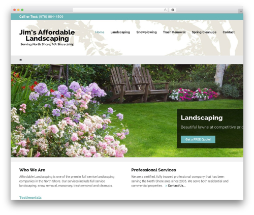 WordPress theme Worker - jimsaffordablelandscaping.com