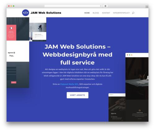 Divi WordPress theme - jwebsol.com