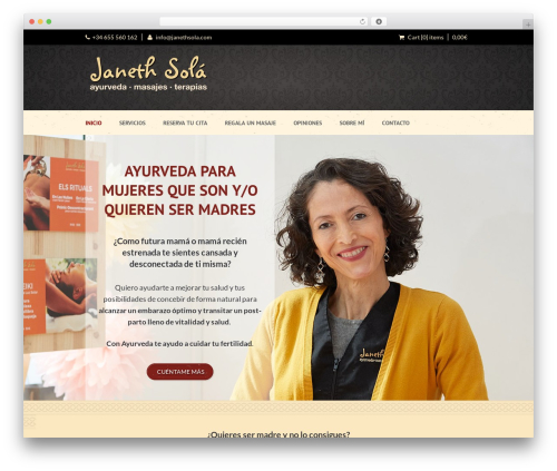 Dream Spa massage WordPress theme - janethsola.com