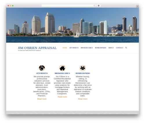 Interface Pro real estate WordPress theme - jimobrienappraisal.com