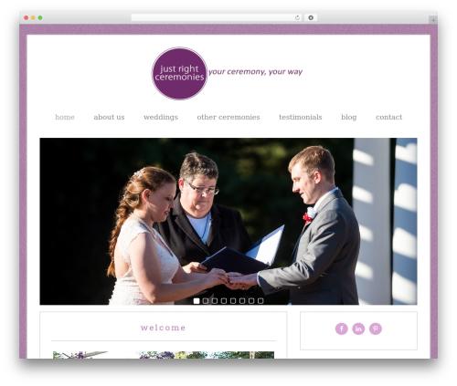 Lifestyle Pro Theme WordPress wedding theme - justrightceremonies.com