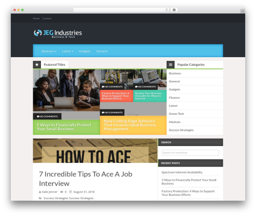 Reviewgine Affiliate WordPress page template - jegindustries.com