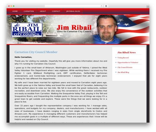 Snowblind free WordPress theme - jimribail.com