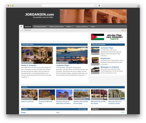 Telegraph WordPress template free - jordanien.com