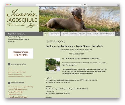 WordPress theme isaria-14 - jagdschule-isaria.de
