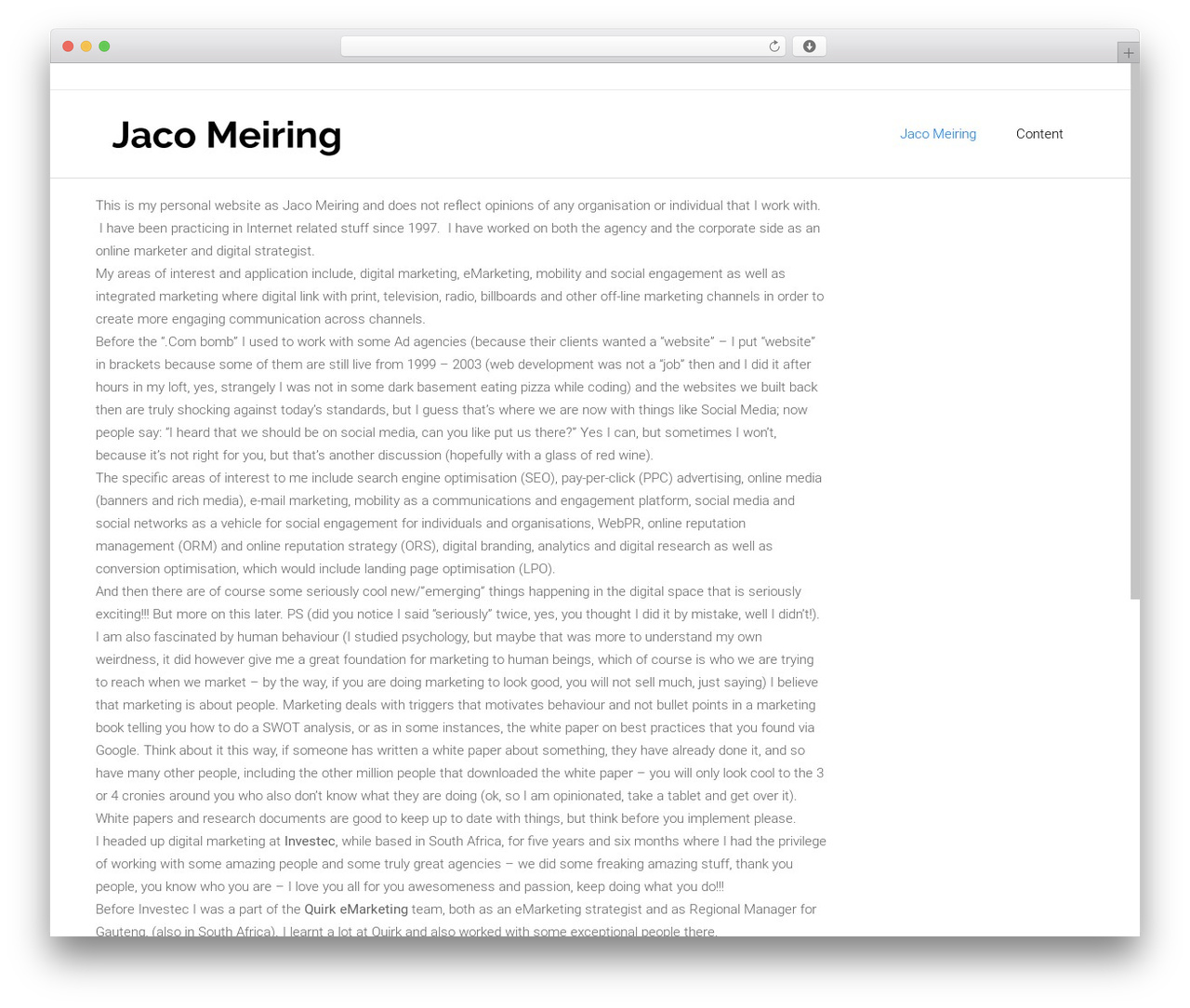WordPress website template Satellite7 - jacomeiring.com