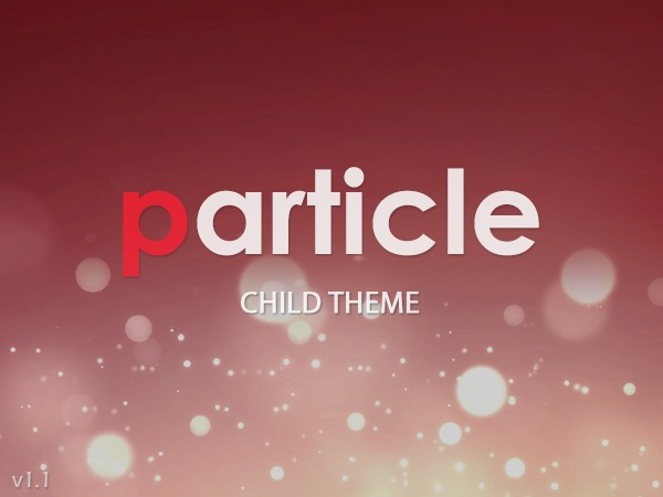 WP theme Particle Child May 2014