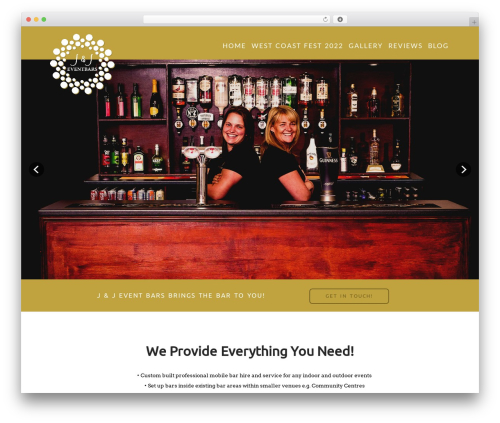 X top WordPress theme - jjeventbars.com
