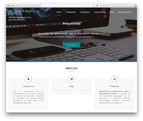 Bizlight best free WordPress theme - javiermantilla.co