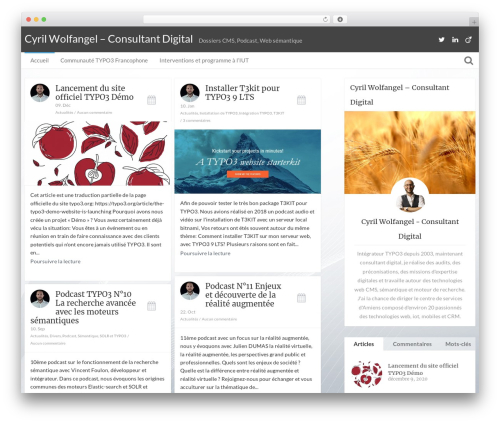 Bliss by Bluthemes WP theme - cyril-wolfangel.com