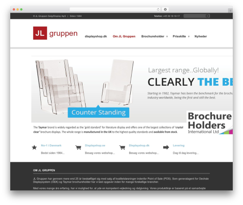 Clearly Modern premium WordPress theme - jl-gruppen.dk