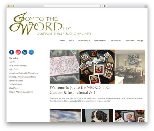 joy to the word wordpress portfolio theme by devin price