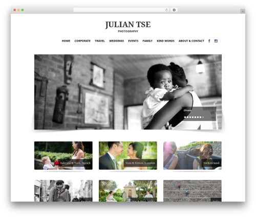 PhotoPassion WordPress Theme WordPress theme image - juliantse.com