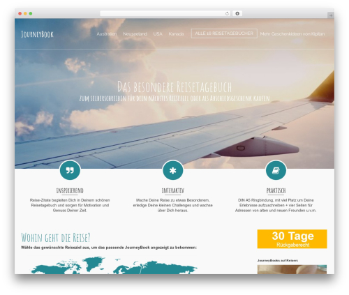 Pinnacle WordPress template free download - journey-book.de