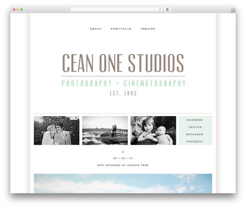 ProPhoto WordPress theme - ceanonephotography.net
