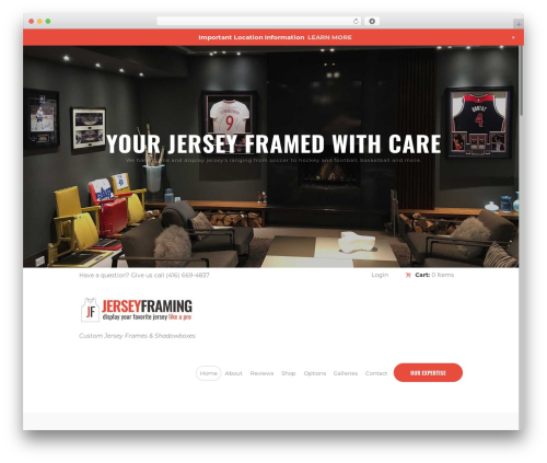 RunCrew theme WordPress - jerseyframing.ca