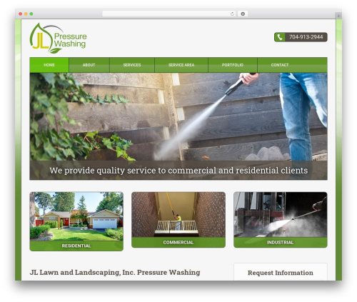 Theme WordPress Triggerfish Responsive - jl-powerwashing.com