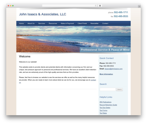 Customized WordPress template for business - johnisaacs.com