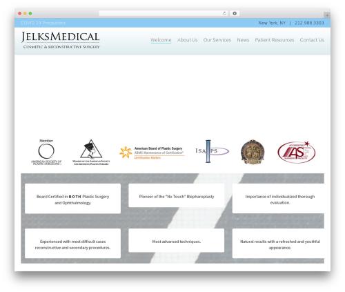 Dante medical WordPress theme - jelksmedical.com