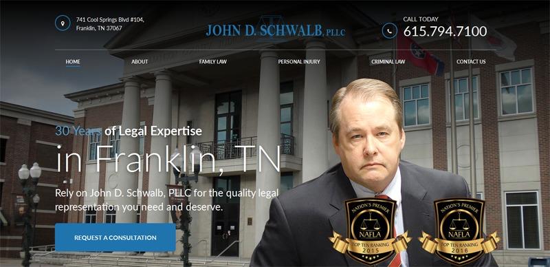 John D. Schwalb, PLLC WordPress theme