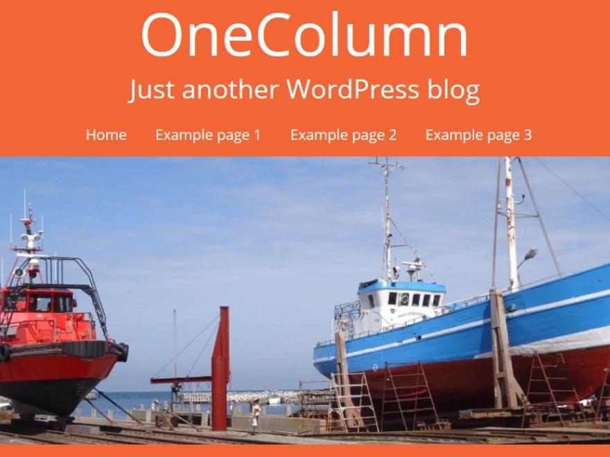 OneColumn Child WordPress blog template