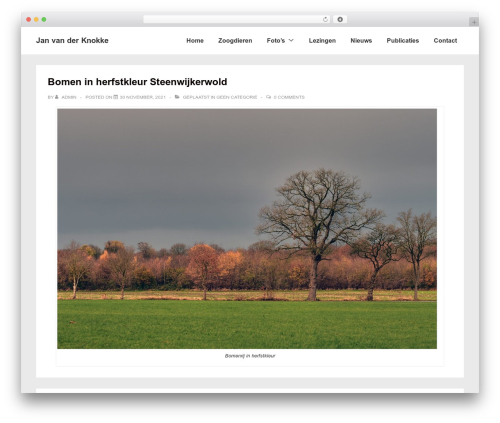 Responsive WordPress template free download - janvanderknokke.nl