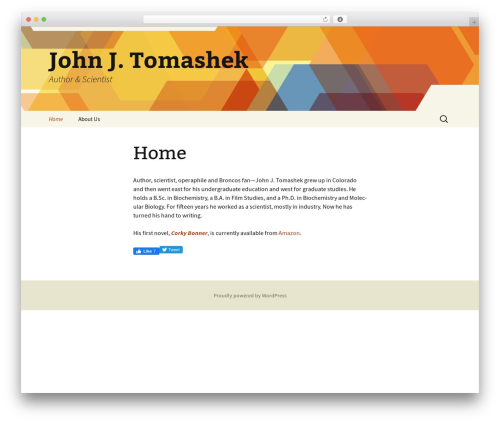 Twenty Thirteen template WordPress free - johnjtomashek.com