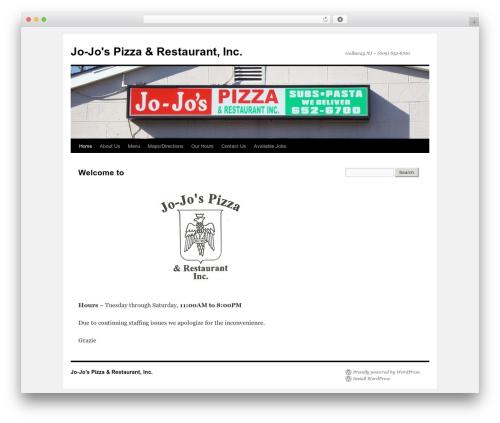 WP template Twenty Ten - jo-jospizza.com