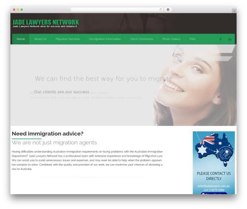 Attorney WordPress theme design - jadelawyers.com.au