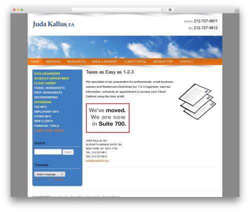 Best WordPress theme Customized - judakallus.com