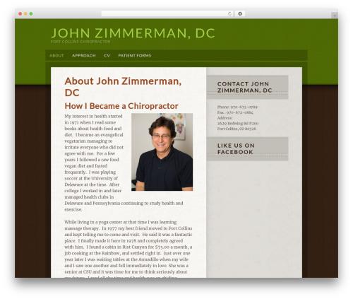 Going Green Child Theme template WordPress - johnzimmermandc.com