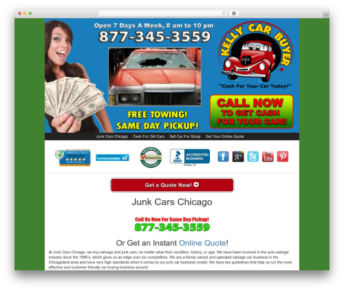 Kelly Car Buyer 1.0 WordPress theme - junkcarschicago.com