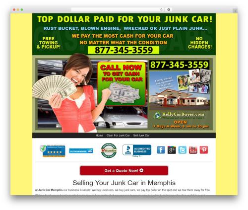 Kelly Car Buyer 1.0 WordPress theme - junkcarmemphis.com