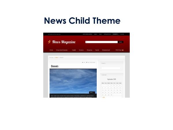 News Child Theme WordPress magazine theme