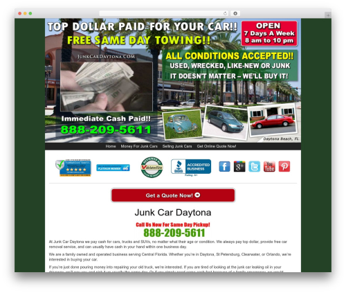 Theme WordPress Kelly Car Buyer 1.0 - junkcardaytona.com