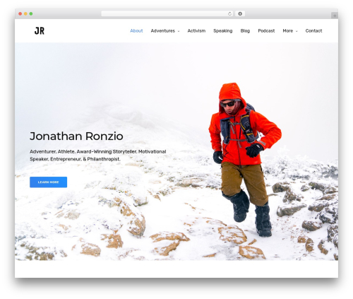 Theme WordPress Revolution - jonathanronzio.com