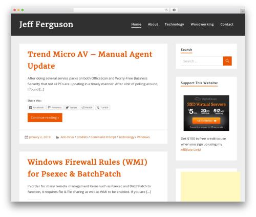 WordPress template zeePersonal - jeff-ferguson.com