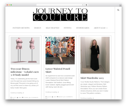 WP theme You - journeytocouture.com