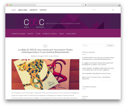 Activello best free WordPress theme - careaboutculture.it