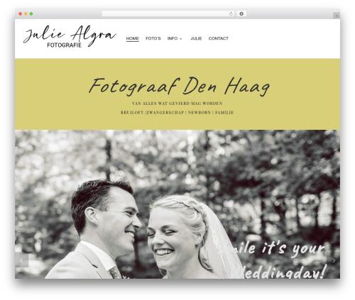 Best WordPress template Customizr Pro - juliealgra.nl