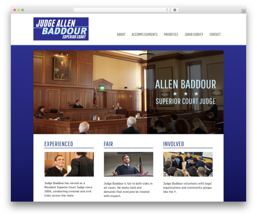 Executive Pro Theme WordPress theme - judgebaddour.com