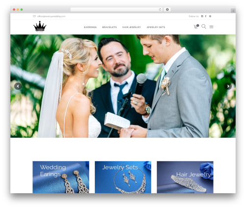Fleur WordPress page template - jewelry4wedding.com