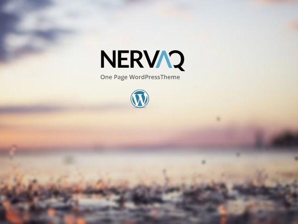 Nervaq personal blog WordPress theme