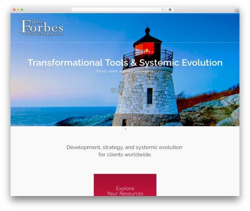 Pinnacle WordPress template for business - julieannforbes.com