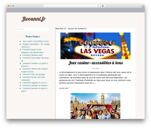 Rakiya free WordPress theme - jiovanni.fr