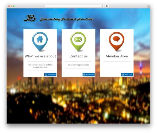 The Firm WordPress theme design - jopesa.co.za