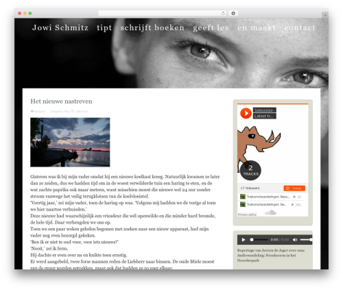The Thinker Theme WordPress theme - jowischmitz.nl