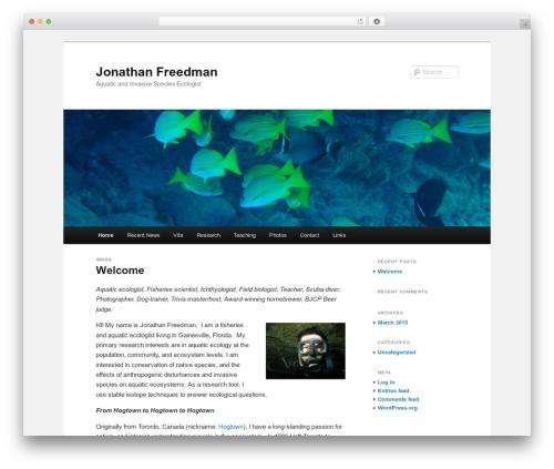 Twenty Eleven WordPress theme - jonathanafreedman.com